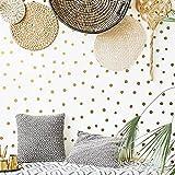 Pegatina de pared de puntos para habitación de niños y bebés, calcomanía de pared con puntos irregulares, vinilo para dormitorio, decoración del hogar-4x124cm