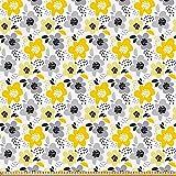 ABAKUHAUS Blumen Stoff als Meterware, Modern und abstrakt