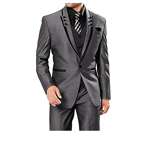 Steady High Quality Mens Suits Groom Tuxedos Groomsmen Wedding Party Dinner Best Man Suits W:14 jacket+pants+bow Tie