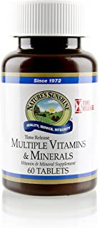 Nature's Sunshine Multiple Vitamin and Minerals, Time Release, 60 Tablets | Provides 100% of The Daily Value for 17 Essential Vitamins and Minerals