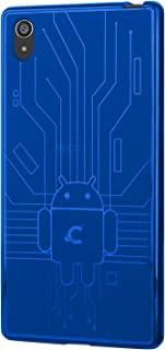 Sony Xperia Z5 Case, Cruzerlite Bugdroid Circuit Case Compatible for Sony Xperia Z5 - Retail Packaging - Blue