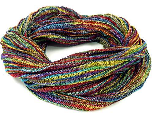 GURU SHOP Weicher Loop Schal/Stola, Magic Loopschal, Weste, Herren/Damen, Bunt, Baumwolle, Size:One Size, Schals Alternative Bekleidung