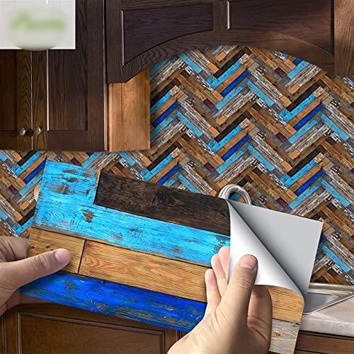 Byrhgood 20x10cm Piedra de Piedra Pegatina de Pared Impermeable Autoadhesivo PVC Pegatinas de azulejo para baño Cocina de Cocina Decoración del hogar (Color : UB034, Size : 10x20cmx27pcs(0.5m2))