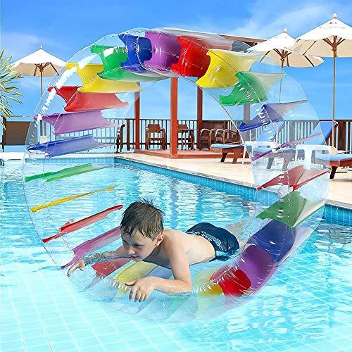 Riiai 100 x 60 cm gigante Roll Ball,per bambini piscina giocattoli erba Plaything bambini colorato...