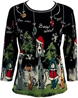 Jess & Jane Bow Wow Christmas Cotton Top - 14-376
