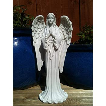 KiaoTime 9 Praying Angel Figurine Wings Angel Flamless LED Candle with 4//8H Timer Function Angel Figurine Sculpture Statue Decorative Home Wedding Christmas Church Baptism Angel Collection Figurine