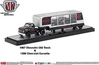 M2 Machines Auto Hauler Coca-Cola 1967 Chevrolet C60 Truck & 1966 Corvette