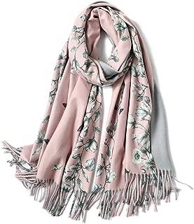 Women's scarves soft warm tartan plaid cashmere wrap tassel shawl stitching long shawl double-sided winter long scarf