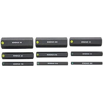 Bondhus 33645 5//16-5//8 6 ProHold Socket Bits w//out Sockets Set of 5