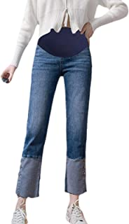 KEEPWO Maternity Jeggings Slim Fit Over The Bump Jeans Ladies Womens Maternity Under or Over Bump Jeggings Jeans