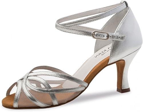 Anna Anna Kern - Femmes Chaussures de Danse 740-60 - Cuir Argent - 6 cm  60% de réduction