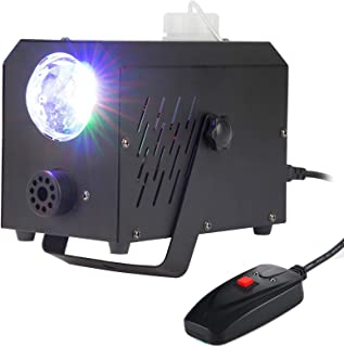 CO-Z Multicoloured LED Fog Smoke Effect Generator Machine, Stage Haze Atmosphere Maker Equipment 400W w/Remote Control and Magic Bulb for Halloween Christmas Wedding Theater Party Club DJ Light Effect