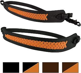 BRONZEDOG Genuine Leather Rifle Sling Braided Shotgun Strap Durable Hunting Shoulder Belt
