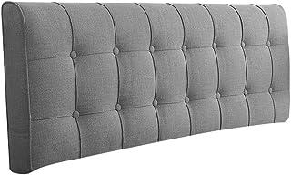 クッション,床上软包坐垫腰痛 クッション,背もたれクッション,可拆下清洁,多个尺寸选择 (Color : Dark gray Without Headboard, Size : 200cm)