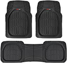 Motor Trend MT-923-BK Black FlexTough Contour Liners-Deep Dish Heavy Duty Rubber Floor Mats for Car SUV Truck & Van-All We...