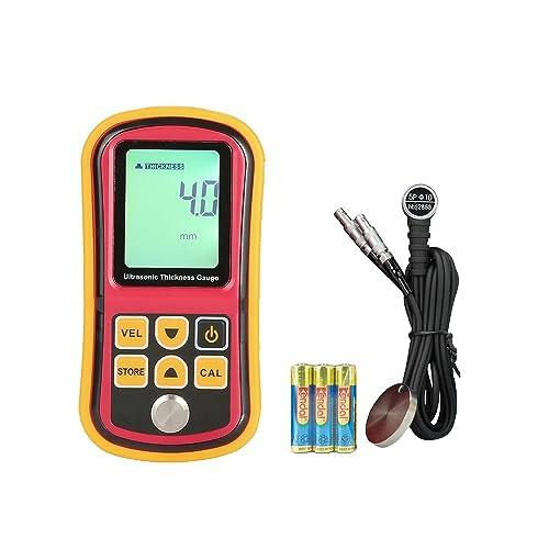 Amgaze Numérique Ultrasons Épaisseur Testeur Jauge Vitesse 1.2 ~ 225mm Métal Vague Quatre Chiffres LCD Moniteur (Batteries Incluses) (GM100)