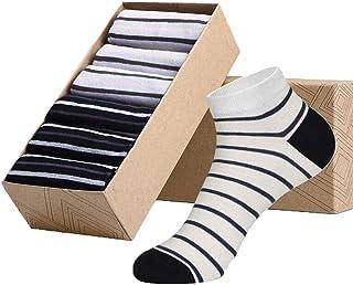 Kewei 6-pair Zebra Print Quarter Cut Cotton Socks