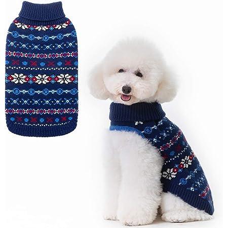 S Hug Fashion es Muy Simple Dusenly Pet Warm Sweater Pet Winter Warm Jacket Ropa navide/ña Adecuada para Mascotas peque/ñas y Medianas