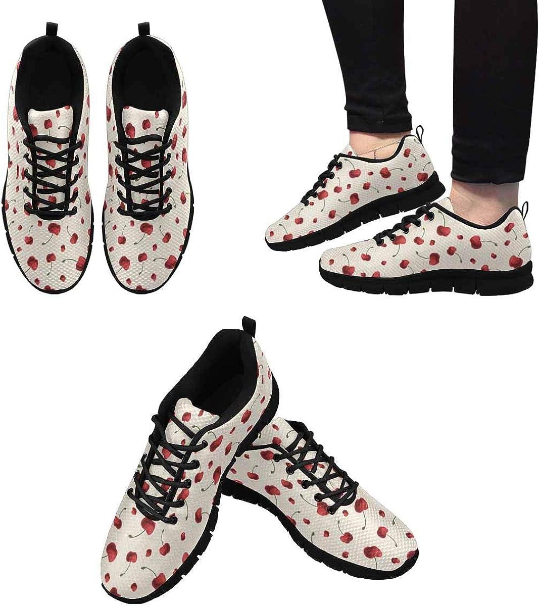 InterestPrint Sweet Cherries Women's Breathable Comfort Mesh Fashion Sneakers