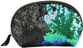 BaronHong Mermaid Sequin Cosmetic Bag Magic Sequins Color Changing Makeup Bags DIY Reversible Sequins Handbag Glitter Pencil Case