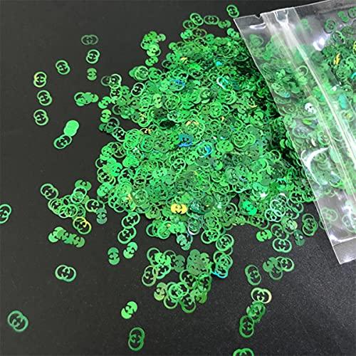 1 g/botella láser holográfico Color grueso brillo lentejuelas marca logotipo en forma de brillo para uñas DIY arte cara cuerpo manualidades decoración