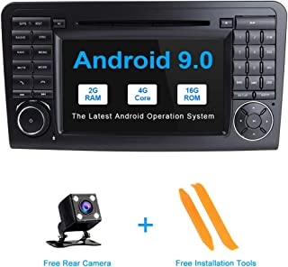 TOOPAI 7 Inch Android 9.0 Car Radio for Mercedes-Benz GL ML CLASS W164 X164 ML300 ML320 ML350 ML450 ML500 ML63 AMG GL320 GL350 GL420 GL450 GL500 Support GPS WiFi Bluetooth Canbus GPS Full RCA OBD DAB+