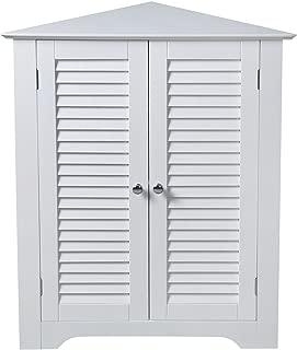 Aspect Odense Bathroom Corner Storage Cabinet, MDF, White, 64.5 x 46 x 79.5 cm