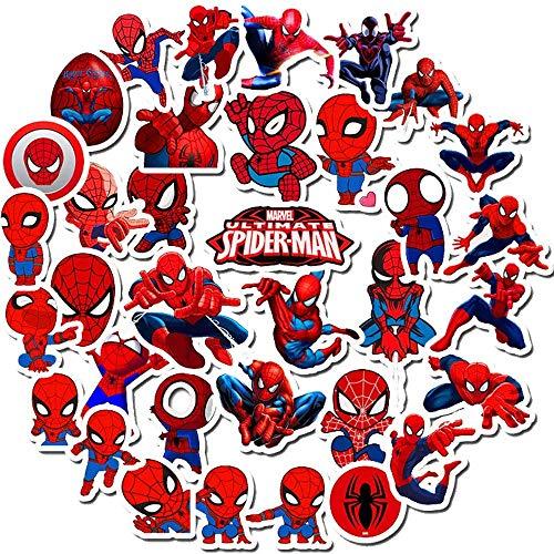 Spiderman - Pegatinas para niños, superhéroes para botella de agua Hydro Flask MacBook coche bicicleta parachoques monopatín equipaje