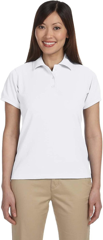 Harriton Womens Easy Blend Plus Polo (M280W) -WHITE -2XL