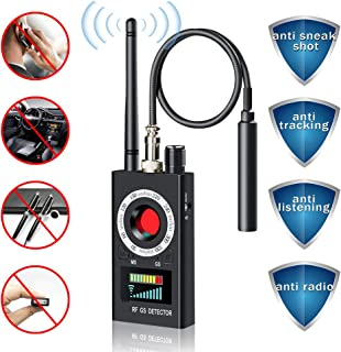 Hidden Camera Detector, LONOVE Anti Spy RF Signal Wireless Bug GPS Tracker GSM Listening Device Finder Laser Lens Magnetic Field Detectors with 3 Detection Modes