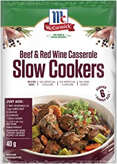 McCormick Slow Cookers Beef and Red Wine Casserole Recipe Base 40 g, 40 g