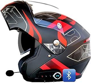 Bluetooth Integrado Casco De Moto Modular, con Doble Anti Niebla Visera Cascos De Motocicleta ECE Homologado, Forro Ventil...