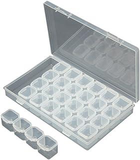 28ranuras caja de bordado de diamante Daimond pintura bastidor cajas caso herramientas de punto de cruz, lienzo dolor