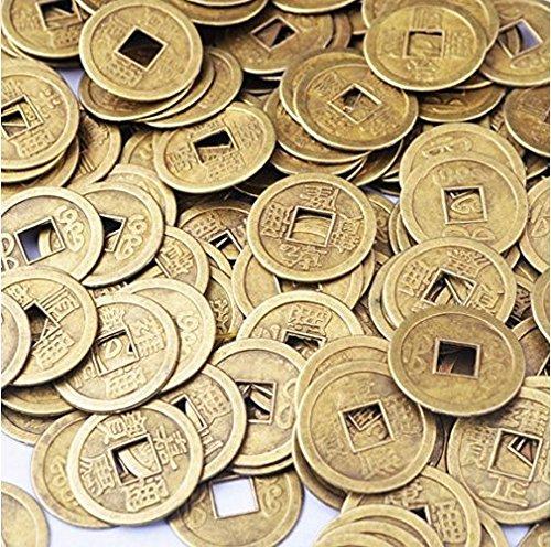 (イスイ) YISHUI 50PCS 風水 中国古銭 開運 コイン お守り 護符 feng shui Y1020