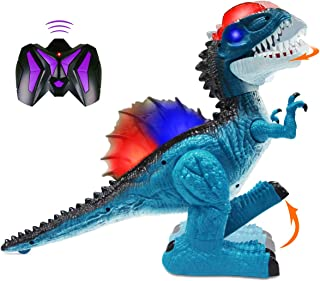 Remote Control Dinosaur for Kids Boys Girls, Electronic RC Toys Walking Spinosaurus with Lights and Sounds, 360° Rotation ...