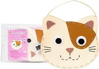 ggomaART DIY Sewing Kit for Kids Do it Yourself Sewing Play for Kids Art Craft Sewing Craft Kits for Kids Art Education for Little Kids - Kitten Handbag