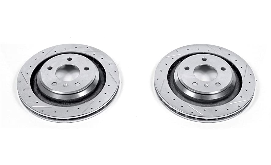 Power Stop AR8287XPR Rear Evolution Drilled & Slotted Rotor Pair