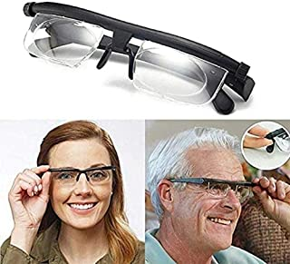 Dial Adjustable Glasses Variable Focus,6D to +3D Diopters Myopia Glasses,Adjustable Reading Glasses Dial Vision As Seen on...