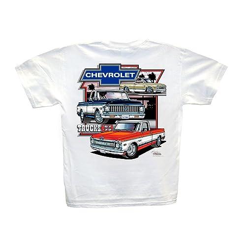 Hot Shirts Chevrolet Trucks 1967-1972 White T-Shirt: Cheyenne Super C/