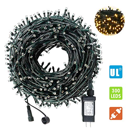 AmyHomie 108Ft 300LED Upgraded Christmas String Lights Outdoor Indoor String Light Weatherproof Decor Light with UL Certified End-to-End Expandable Plug for Patio Garden Holiday Christmas Tree