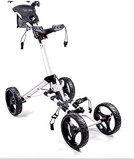 Golf Push Cart Golf trolleys 4 Wheel Golf Push Cart Lightweight Close Folding  Push Pull Cart Eazy to Open for Outdoor Gol...