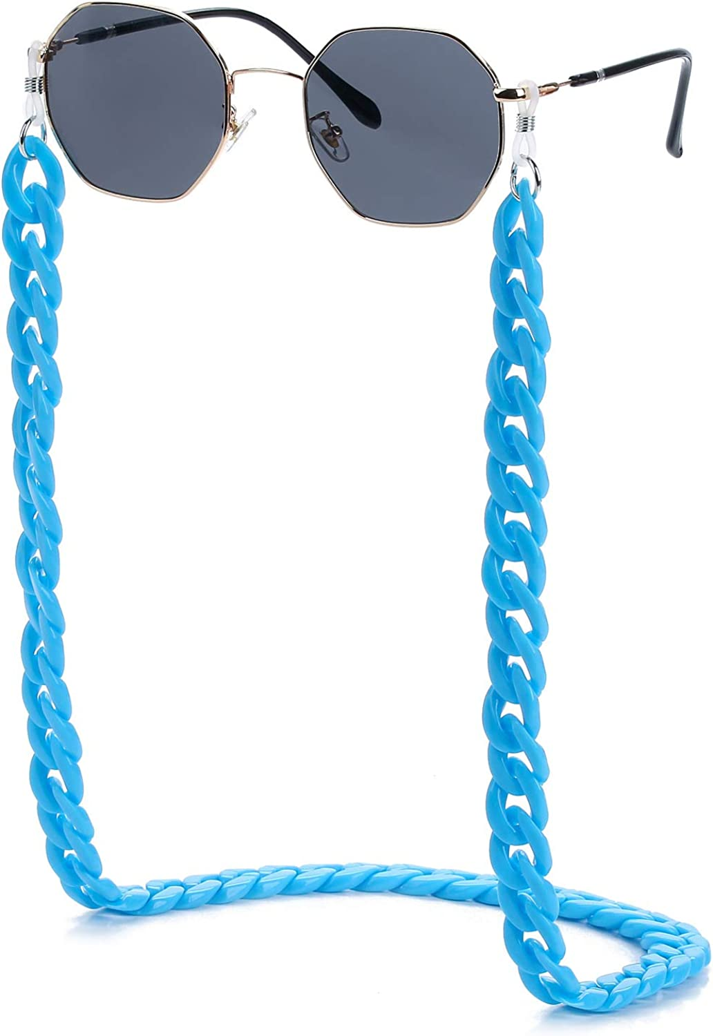 Mask Glasses Lanyard Unisex Mask Strap Anti-Lost Mask Leash Eyeglass Chains for Women with Clips