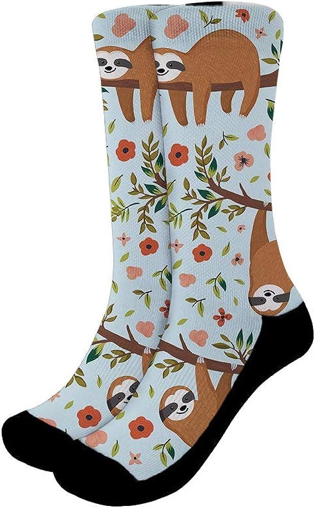 Mumeson Women Men Novelty Casual Socks Patterned Cool Cotton Crew Dress Funny Socks