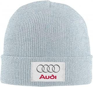 Unisex Au-di Car Logo Short Watch Cap Winter Daily Knit Beanie Hat Warm Hat for Teens Mens and Womens