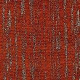 Con tejido de chenilla, tela, Burnt Orange, By Half-Metre