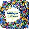 Lightaling Building Bricks Compatible with Lego – 1000 Pieces Bulk Building Blocks in Random Color – Mixed Shape – Includes 2 Figures