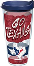 Tervis 1227682 NFL Houston Texans NFL Statement Tumbler with Wrap and Navy Lid 24oz, Clear