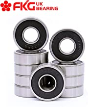 FKG 6000-2RS 10x26x8mm Deep Groove Ball Bearing Double Rubber Seal Bearings Pre-Lubricated 10 Pcs