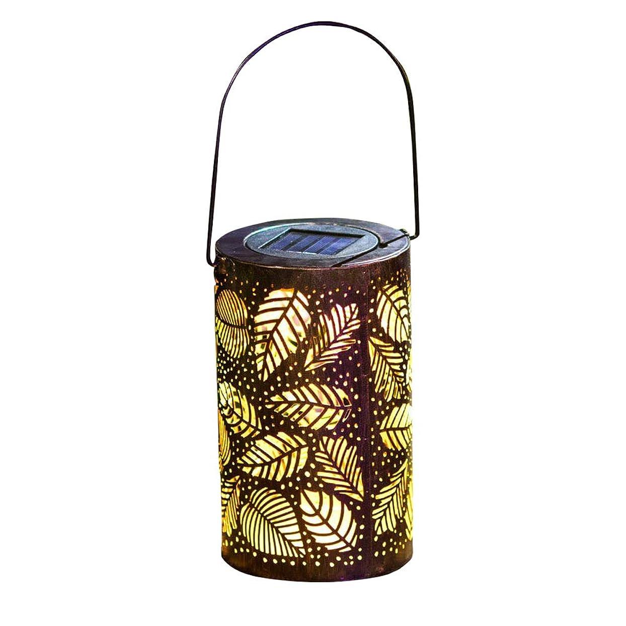 電話する謙虚な防止HOTTELY ソーラー ガーデン ライト IP44防水 屋外 自動点灯 LED 装飾ライト 省エネ おしゃれ 上品 綺麗 暖色 吊り下げライト 1個セット(葉の形:12.5*33cm)