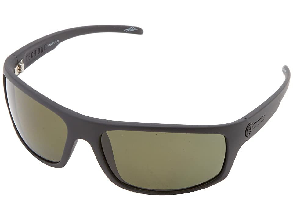Electric Eyewear Tech One Polarized (Matte Black/M1 Grey Polar) Plastic Frame Sport Sunglasses